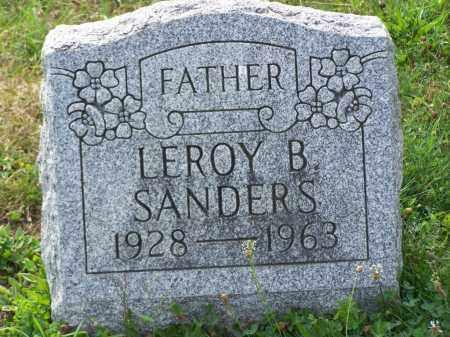 SANDERS, LEROY B - Belmont County, Ohio | LEROY B SANDERS - Ohio Gravestone Photos