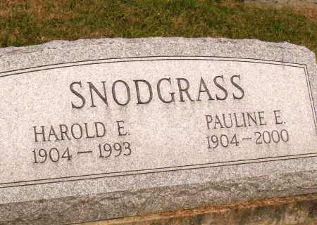 SNODGRASS, PAULINE E - Belmont County, Ohio | PAULINE E SNODGRASS - Ohio Gravestone Photos