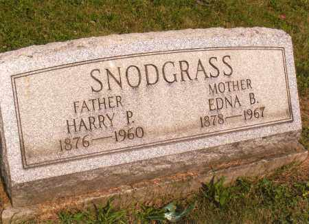 SNODGRASS, EDNA B - Belmont County, Ohio | EDNA B SNODGRASS - Ohio Gravestone Photos