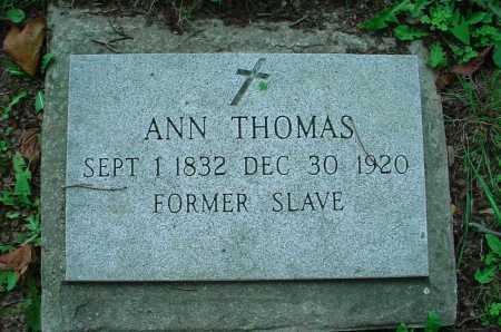THOMAS, ANN - Belmont County, Ohio | ANN THOMAS - Ohio Gravestone Photos