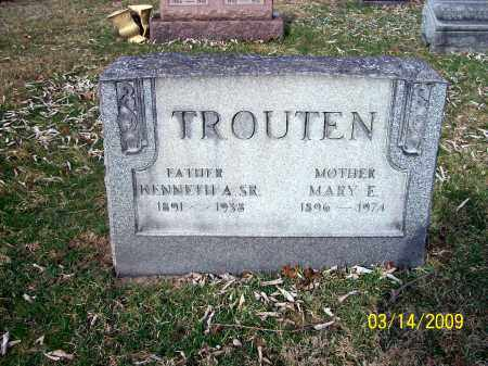 TROUTEN, MARY E - Belmont County, Ohio | MARY E TROUTEN - Ohio Gravestone Photos