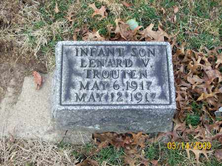 TROUTEN, LENARD V - Belmont County, Ohio | LENARD V TROUTEN - Ohio Gravestone Photos