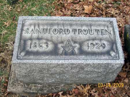 TROUTEN, SANTFORD - Belmont County, Ohio | SANTFORD TROUTEN - Ohio Gravestone Photos