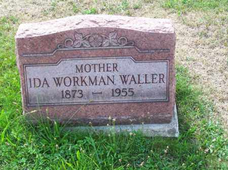 WORKMAN WALLER, IDA - Belmont County, Ohio | IDA WORKMAN WALLER - Ohio Gravestone Photos