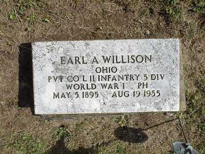 WILLISON, EARL A - Belmont County, Ohio | EARL A WILLISON - Ohio Gravestone Photos