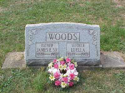 WOODS, JAMES EDWARD SR. - Belmont County, Ohio | JAMES EDWARD SR. WOODS - Ohio Gravestone Photos