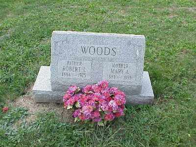 WOODS, MARY A - Belmont County, Ohio | MARY A WOODS - Ohio Gravestone Photos