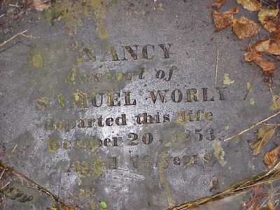 WORLY, NANCY - Belmont County, Ohio | NANCY WORLY - Ohio Gravestone Photos