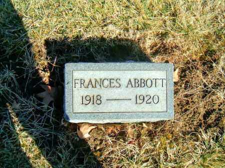 ABBOTT, FRANCES - Brown County, Ohio | FRANCES ABBOTT - Ohio Gravestone Photos