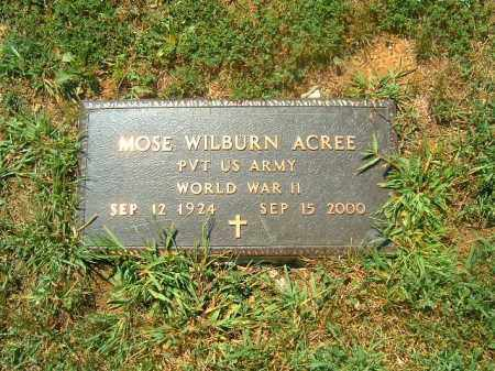 ACREE, MOSE WILBURN - Brown County, Ohio | MOSE WILBURN ACREE - Ohio Gravestone Photos