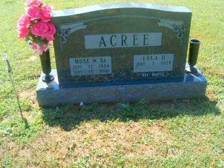 ACREE, MOSES  W  SR - Brown County, Ohio | MOSES  W  SR ACREE - Ohio Gravestone Photos