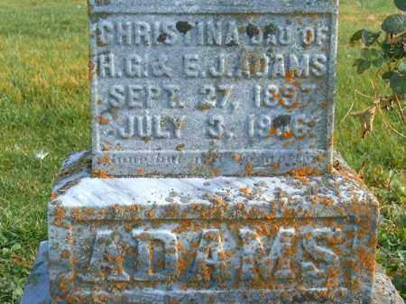 ADAMS, CHRISTINA - Brown County, Ohio | CHRISTINA ADAMS - Ohio Gravestone Photos