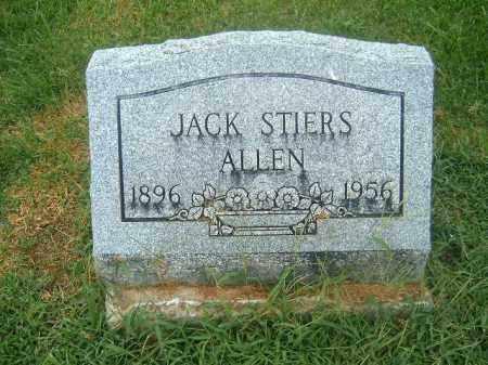 ALLEN, JACK  STIERS - Brown County, Ohio | JACK  STIERS ALLEN - Ohio Gravestone Photos