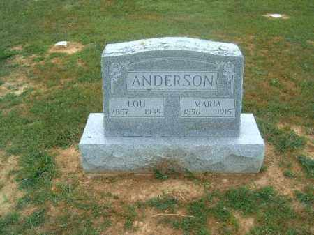 ANDERSON, LOU - Brown County, Ohio | LOU ANDERSON - Ohio Gravestone Photos
