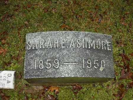 ASHMORE, SARAH  E - Brown County, Ohio | SARAH  E ASHMORE - Ohio Gravestone Photos