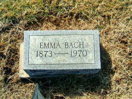 BACH, EMMA - Brown County, Ohio | EMMA BACH - Ohio Gravestone Photos