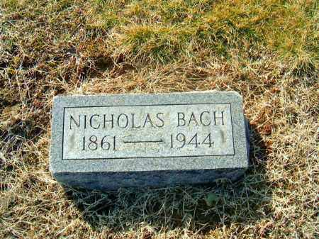 BACH, NICHOLAS - Brown County, Ohio | NICHOLAS BACH - Ohio Gravestone Photos