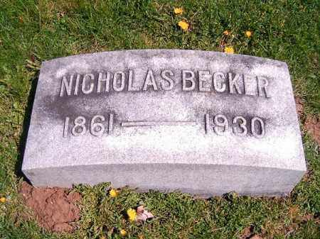 BECKER, NICHOLAS - Brown County, Ohio | NICHOLAS BECKER - Ohio Gravestone Photos