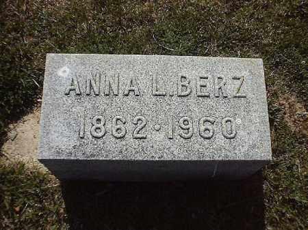 BERZ, ANNA  L - Brown County, Ohio | ANNA  L BERZ - Ohio Gravestone Photos