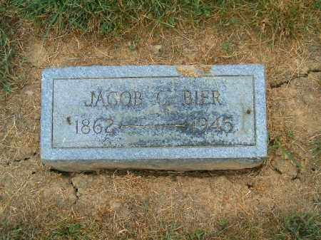 BIER, JACOB  C - Brown County, Ohio | JACOB  C BIER - Ohio Gravestone Photos