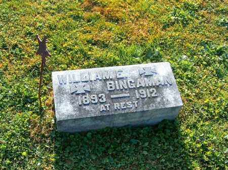 BINGAMAN, WILLIAM   E - Brown County, Ohio | WILLIAM   E BINGAMAN - Ohio Gravestone Photos