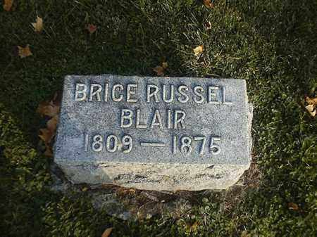 BLAIR, BRICE RUSSEL - Brown County, Ohio | BRICE RUSSEL BLAIR - Ohio Gravestone Photos