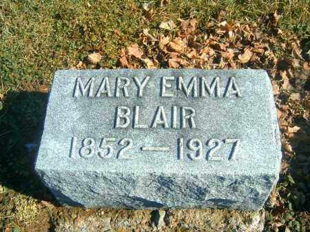 BLAIR, MARY  EMMA - Brown County, Ohio | MARY  EMMA BLAIR - Ohio Gravestone Photos