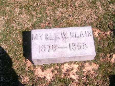 BLAIR, MYRLE   W - Brown County, Ohio | MYRLE   W BLAIR - Ohio Gravestone Photos