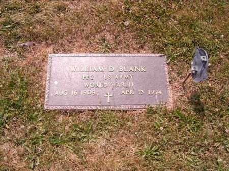 BLANK, WILLIAM D - Brown County, Ohio | WILLIAM D BLANK - Ohio Gravestone Photos