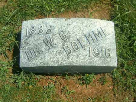 BOEHME, W  G - Brown County, Ohio | W  G BOEHME - Ohio Gravestone Photos
