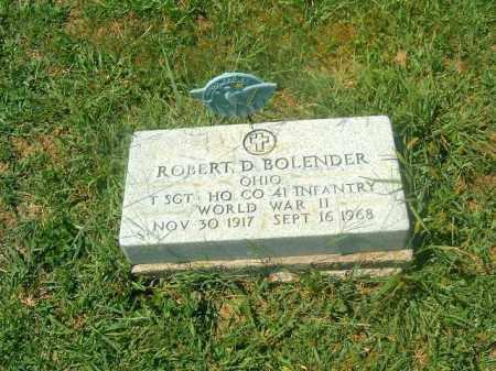 BOLENDER, ROBERT  D - Brown County, Ohio | ROBERT  D BOLENDER - Ohio Gravestone Photos