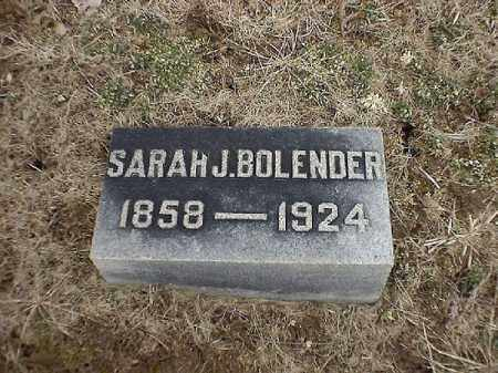 BOLENDER, SARAH   J - Brown County, Ohio | SARAH   J BOLENDER - Ohio Gravestone Photos