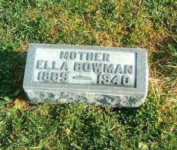 BOWMAN, ELLA - Brown County, Ohio | ELLA BOWMAN - Ohio Gravestone Photos