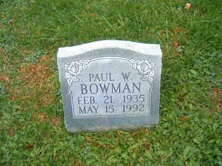 BOWMAN, PAUL   W - Brown County, Ohio | PAUL   W BOWMAN - Ohio Gravestone Photos