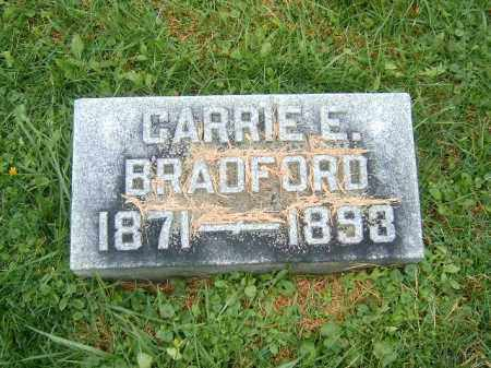 BRADFORD, CARRIE   E - Brown County, Ohio | CARRIE   E BRADFORD - Ohio Gravestone Photos