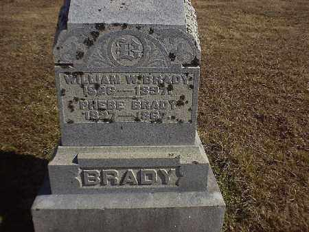 BRADY, WILLIAM  W - Brown County, Ohio | WILLIAM  W BRADY - Ohio Gravestone Photos