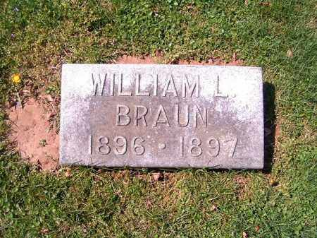 BRAUN, WILLIAM   L - Brown County, Ohio | WILLIAM   L BRAUN - Ohio Gravestone Photos