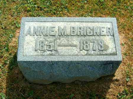 BRICKER, ANNIE  M - Brown County, Ohio | ANNIE  M BRICKER - Ohio Gravestone Photos