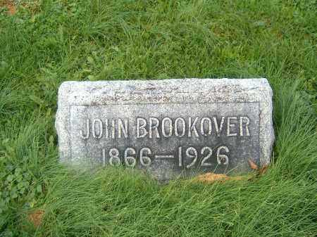BROOKOVER, JOHN - Brown County, Ohio | JOHN BROOKOVER - Ohio Gravestone Photos