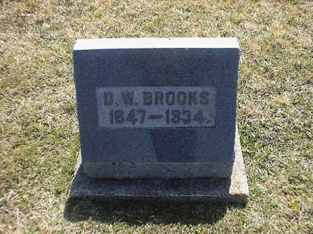 BROOKS, D  W - Brown County, Ohio | D  W BROOKS - Ohio Gravestone Photos