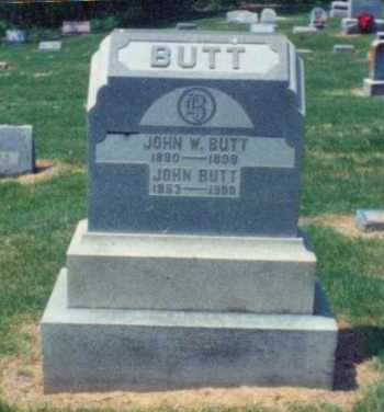 BUTT, JOHN W. - Brown County, Ohio | JOHN W. BUTT - Ohio Gravestone Photos