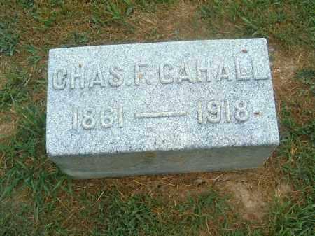 CAHALL, CHAS   F - Brown County, Ohio | CHAS   F CAHALL - Ohio Gravestone Photos