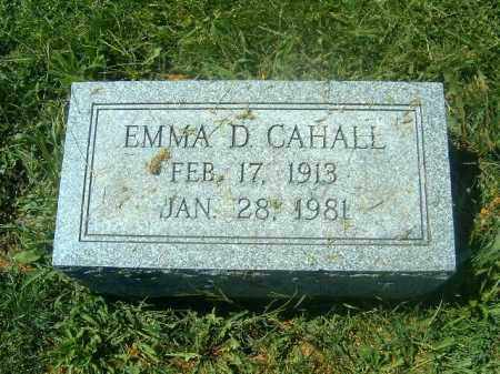 CAHALL, EMMA  D - Brown County, Ohio | EMMA  D CAHALL - Ohio Gravestone Photos