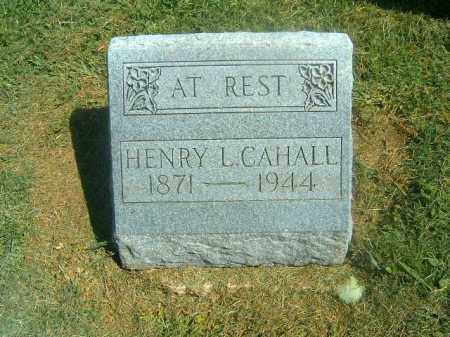 CAHALL, HENRY  L - Brown County, Ohio | HENRY  L CAHALL - Ohio Gravestone Photos