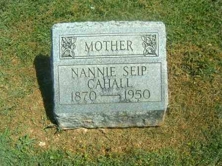 SEIP CAHALL, NANNIE - Brown County, Ohio | NANNIE SEIP CAHALL - Ohio Gravestone Photos