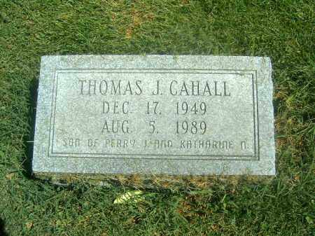 CAHALL, THOMAS  J - Brown County, Ohio | THOMAS  J CAHALL - Ohio Gravestone Photos