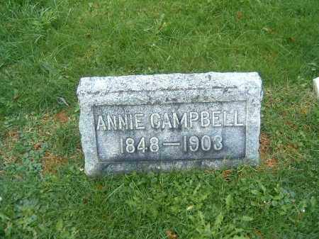 CAMPBELL, ANNIE - Brown County, Ohio | ANNIE CAMPBELL - Ohio Gravestone Photos