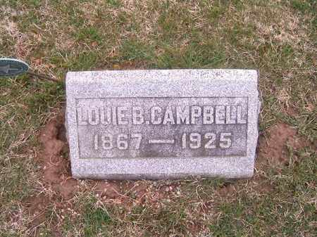 CAMPBELL, LOUIE  B - Brown County, Ohio | LOUIE  B CAMPBELL - Ohio Gravestone Photos