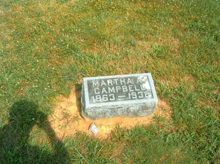 CAMPBELL, MARTHA A - Brown County, Ohio | MARTHA A CAMPBELL - Ohio Gravestone Photos