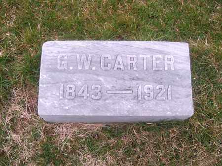 CARTER, G W - Brown County, Ohio | G W CARTER - Ohio Gravestone Photos